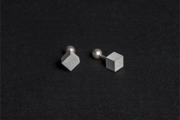 Micro Concrete Cufflinks #2    Price : €57 Euro