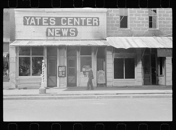 1938 Title Yates Center News Building Kansas Kansas