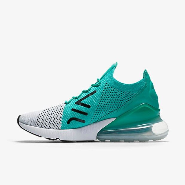 Nike Air Max 270 Flyknit Clear Emerald - Grailify Sneaker ...