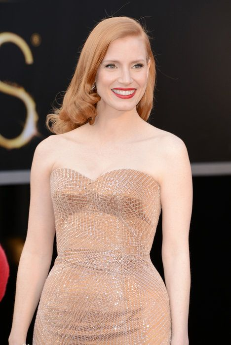 Jessica Chastain Oscar 2013 Red Carpet Gallery