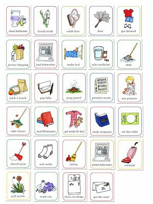 Kid's job chart by susan fitch design
