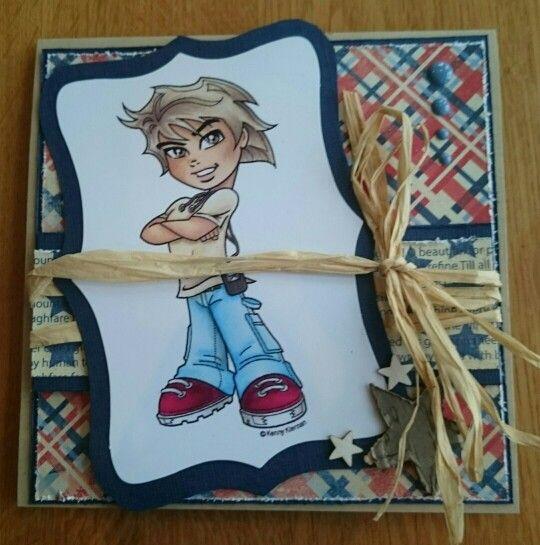 Enkelt guttekort med ark fra autenique
