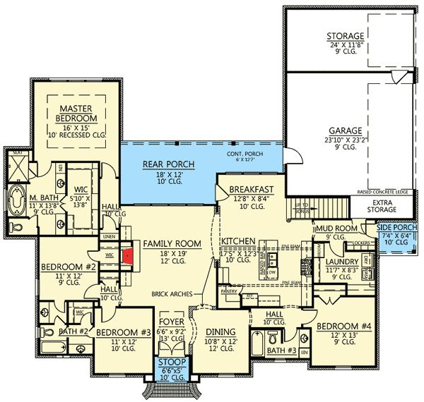 Plan 56377sm 4 Bed Acadian House Plan With Bonus Room