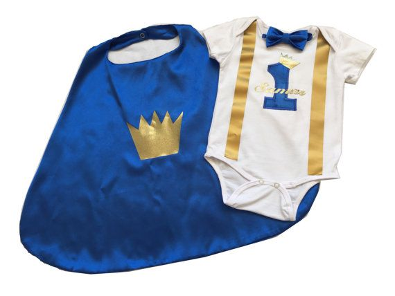 Little prince Personalised Baby boy 1st by BuBBlingBoutique