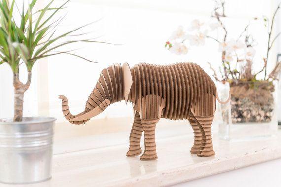 Elephant - cardboard figure
