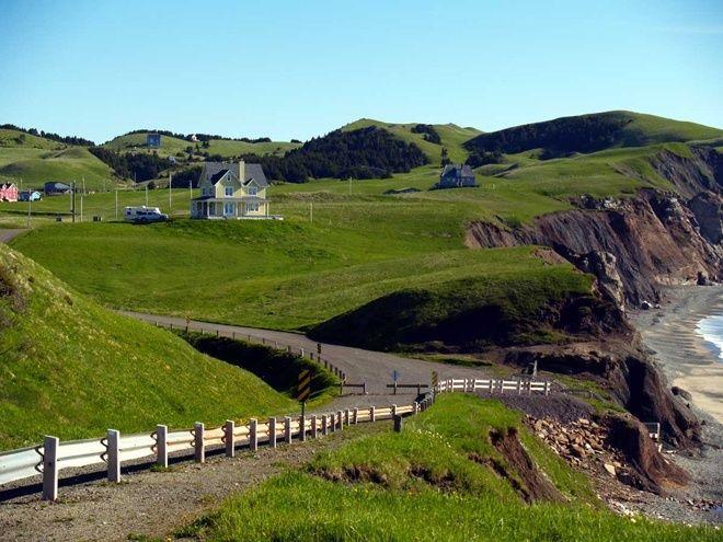 Typical rural scene on the Magdalene islands, Quebec