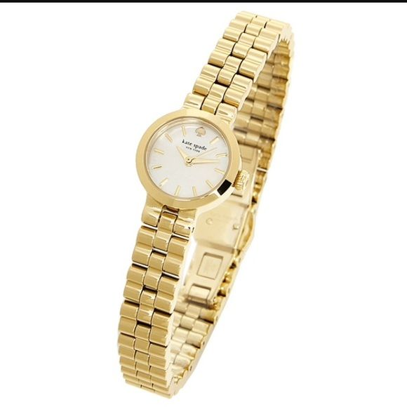 Authentic Kate Spade Gold Watch New Authentic Kate Spade Gold Watch kate spade gramercy watch 1YRU0798  New, never worn , perfect Condition , battery works , beautiful, no box and tags got it from a trade , offers welcome kate spade Accessories Watches