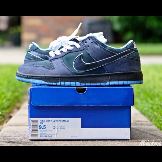 new style 00cb3 09c6a Nike SB Dunk Low Blue Lobster  Sneakers  Pinterest  Nike sb dunks,  Sneakers nike and Sneakers