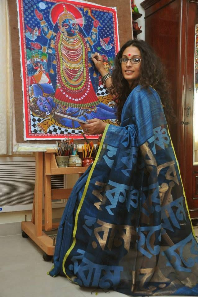 And this is Dithi Mukherjee, a painter whose face Sarah Jessica Parker has stolen.. in raw mango