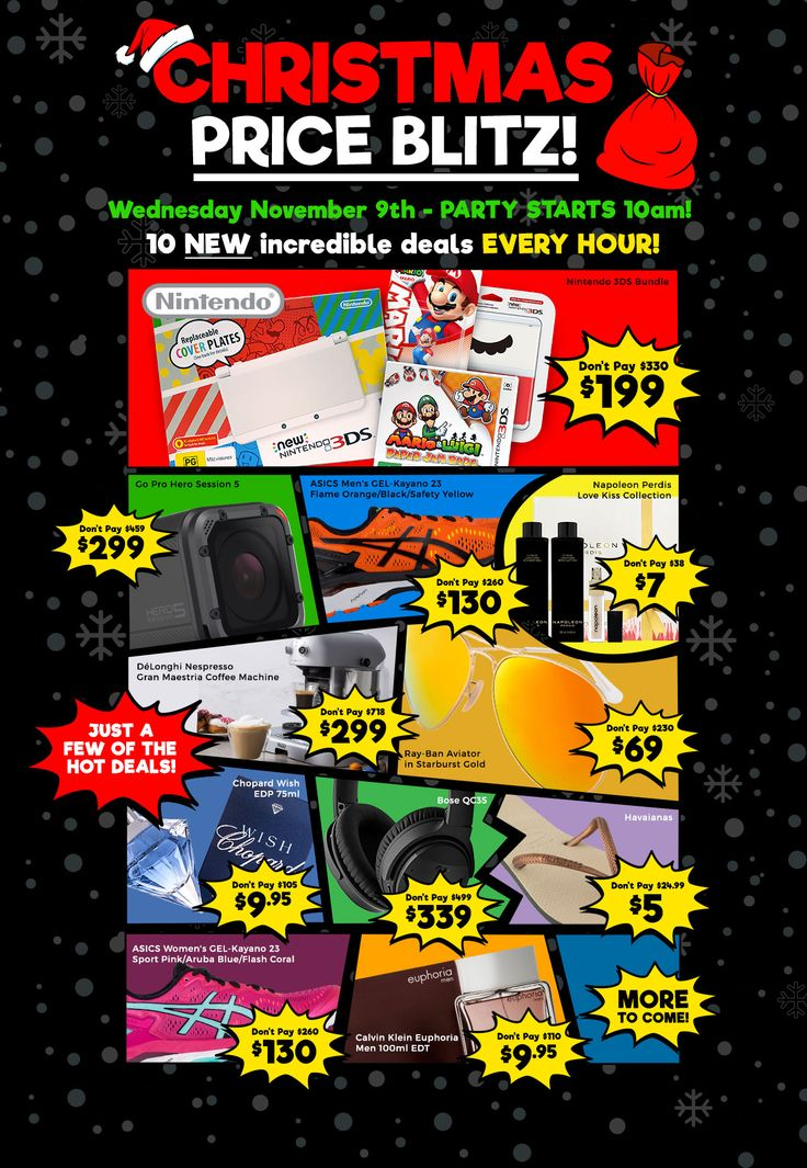 COTD Christmas Pritz Blitz - Bose QC35 $339, GoPro Session 5 $299, Nintendo 3DS Bundle $199, ASICS Kayano 23 $130 (+Post) & More - http://sleekdeals.co.nz/deals/2016/11/cotd-christmas-pritz-blitz-bose-qc35-$339,-gopro-session-5-$299,-nintendo-3ds-bundle-$199,-asics-kayano-23-$130-(43post)-amp-more.aspx?nf=true&m=
