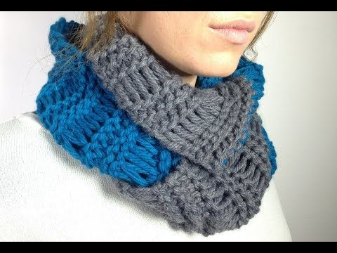 How to Loom Knit an Infinity Scarf in Elongated Stitch using a Round Loom (DIY Tutorial), My Crafts