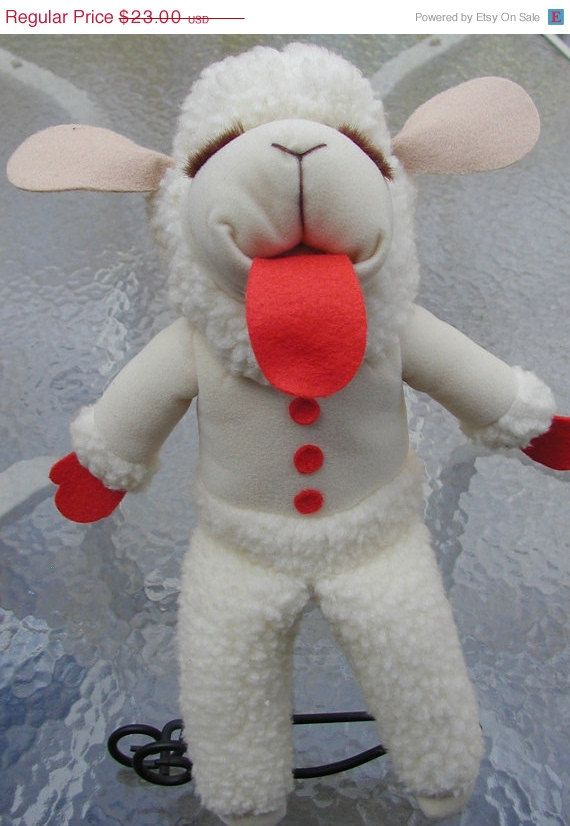 ON SALE Lamb Chop Puppet by Shari Lewis from by TreasureofMemories, $14.95
