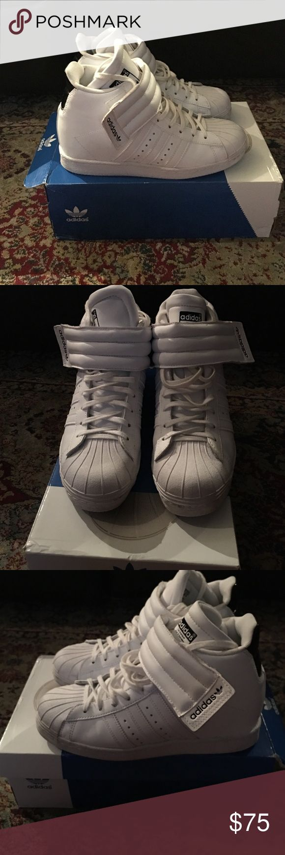 Adidas Superstar W/ Strap White Adidas Superstar Wedges NWB Size 8 Adidas Shoes Sneakers