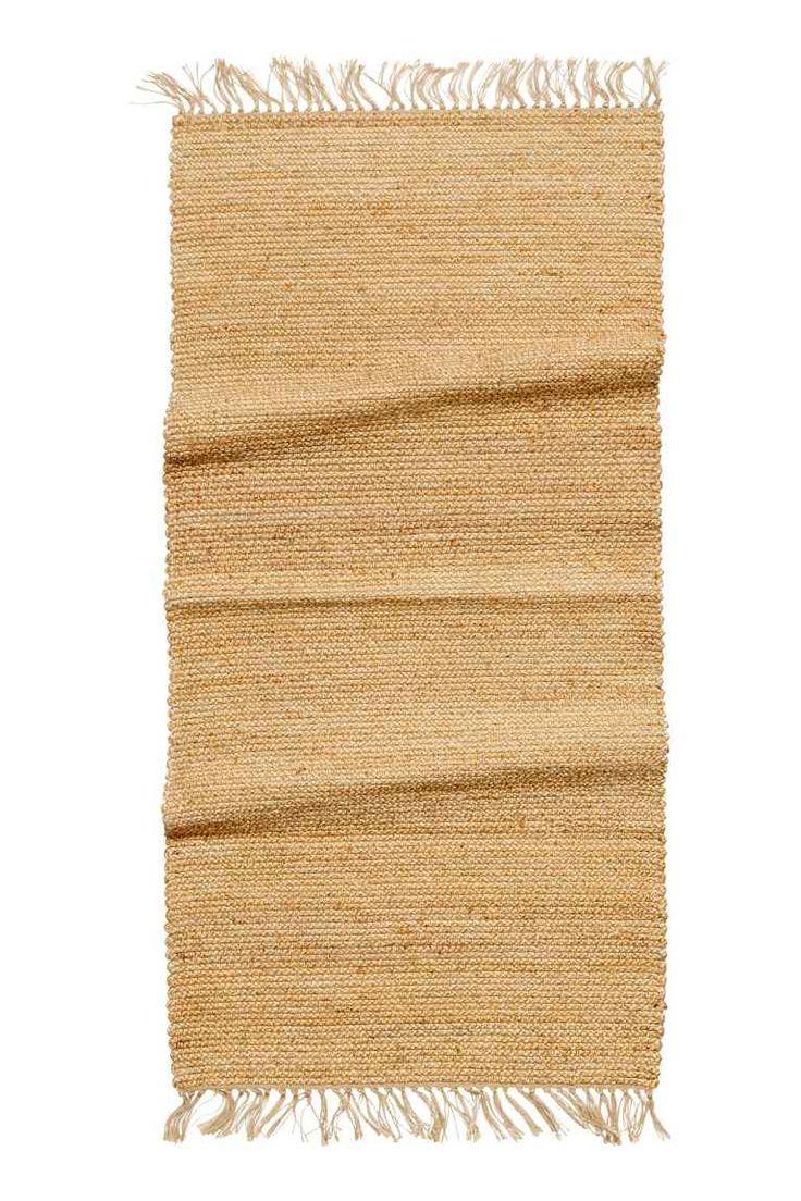 Коврик из джута с бахромой - Натуральный - HOME | H&M RU
