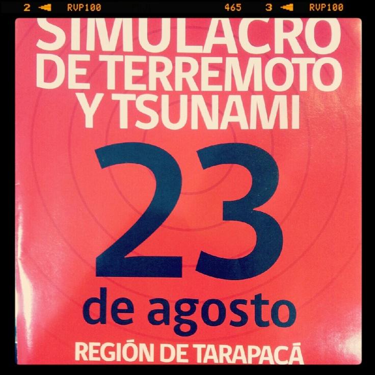 #Simulacro de #terremoto y #tsunami 23  de #agosto #iquique #chile
