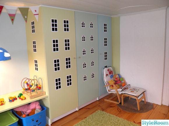 husgarderober,dekorplast,barnfåtölj