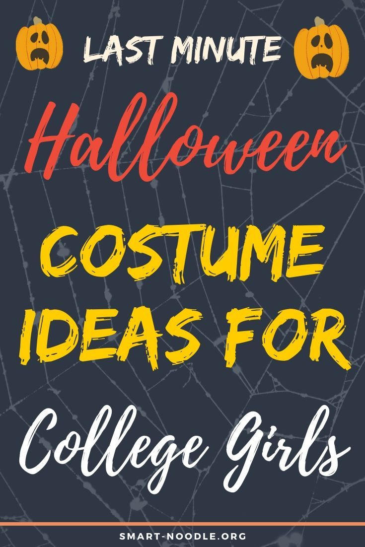 Last Minute Halloween Costume Ideas for College Girls