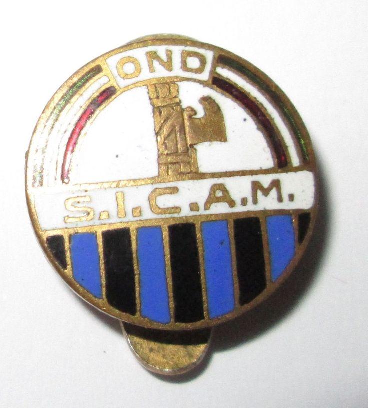 PINS SPILLA BADGE DISTINTIVO CREST ANSTECKER SICAM AMBROSIANA INTER FC MILANO
