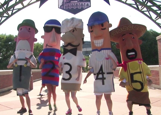 Check out the infamous sausage races - Miller Park Stadium - Home of Milwaukee Brewers - Milwaukee, WI - Kid friendly activity reviews - Trekaroo