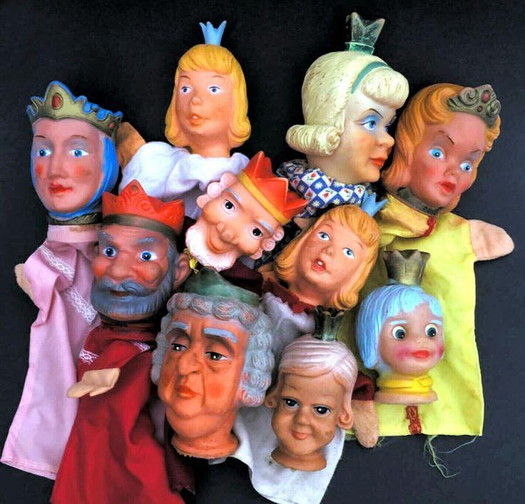 Poppenkastpoppen, Royal handpuppets, Kasperle Puppen 📌 King, Queen, Princess koningin Fürstin prinses Prinzessin Königin