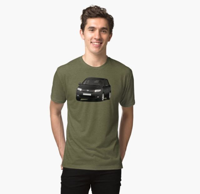 Dacia Sandero illustrations on t-shirts  #dacia #sandero #daciasandero #illustration #carillustration #tshirt #black #romanian #automobiles #cars