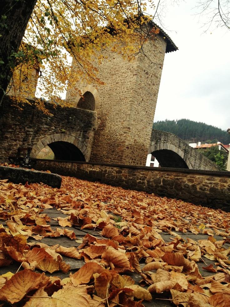 Puente Viejo de #Balmaseda en otoño