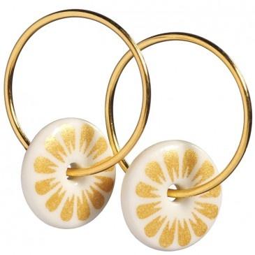 Scherning Gold Flower Earrings, small