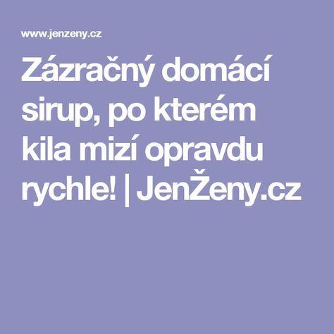 Zázračný domácí sirup, po kterém kila mizí opravdu rychle! | JenŽeny.cz