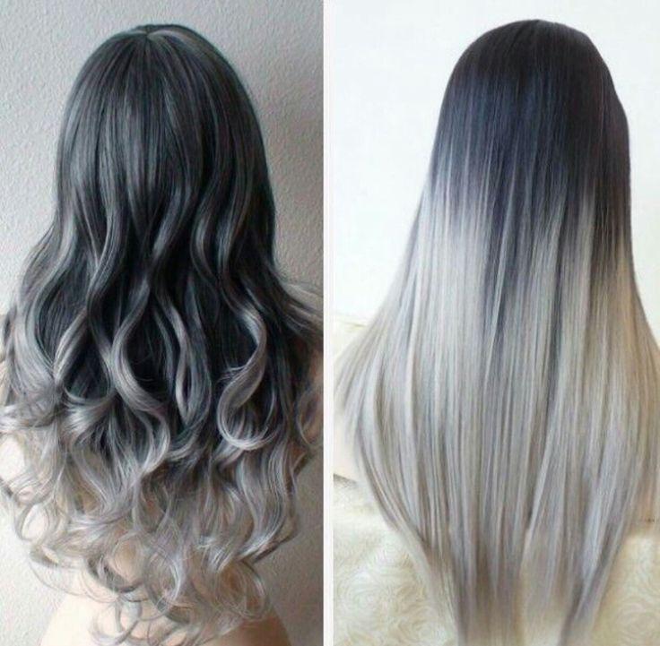 Image result for capelli neri e grigi