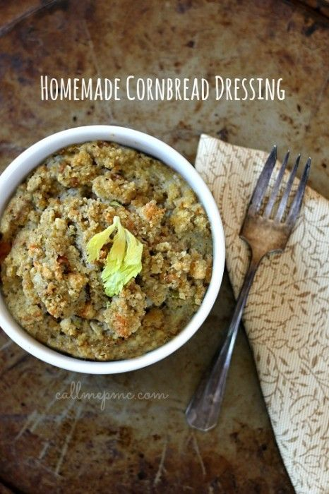 Homemade Southern-style Cornbread Dressing - Call Me PMc