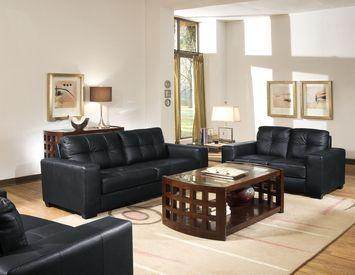 Living Room Sets Black best 25+ black leather sofa set ideas on pinterest | black sofa