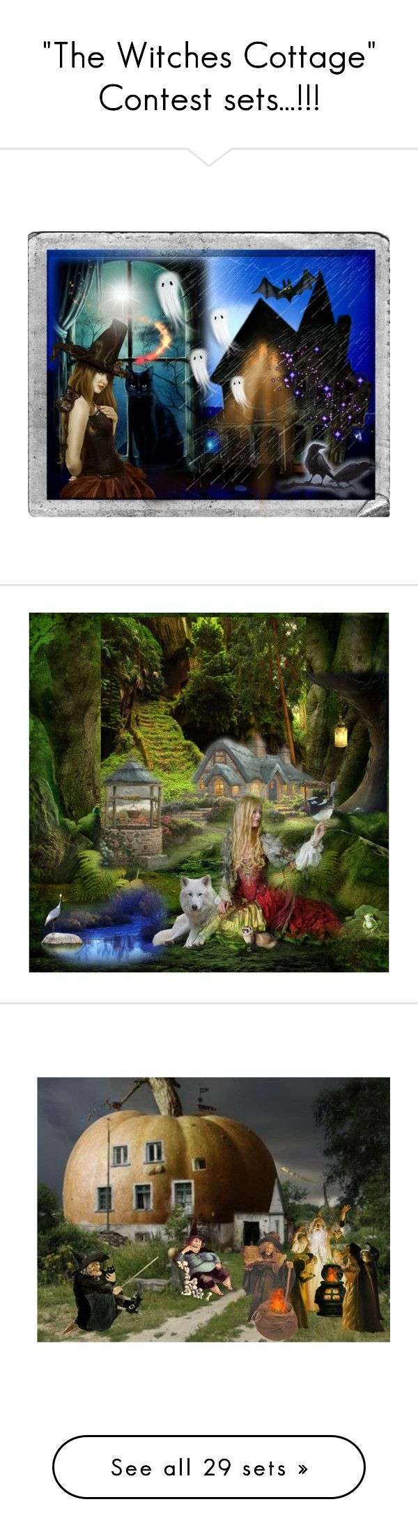 """""The Witches Cottage"" Contest sets...!!!"" by catyravenwood ❤ liked on Polyvore featuring arte, moda, Pinup Couture, Rubie's Costume Co., Chicnova Fashion, Flying Monkey, plus size dresses, artset, ravenwood e interior"