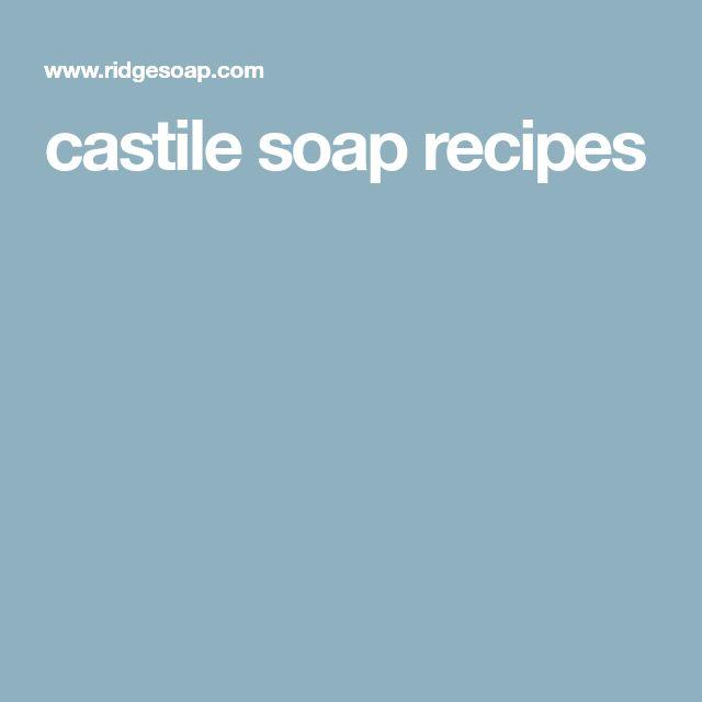 castile soap recipes