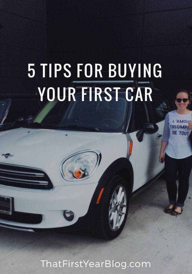 FROM THE BLOG - 5 Tips for Buying Your First Car                                                                                                                                                     More