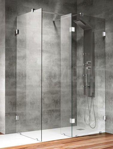 """Kabina prysznicowa typu """"Walk-in"""" #bathroom #shower #lazienka #kabina #prysznic"""