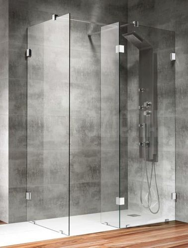 "Kabina prysznicowa typu ""Walk-in"" #bathroom #shower #lazienka #kabina #prysznic"