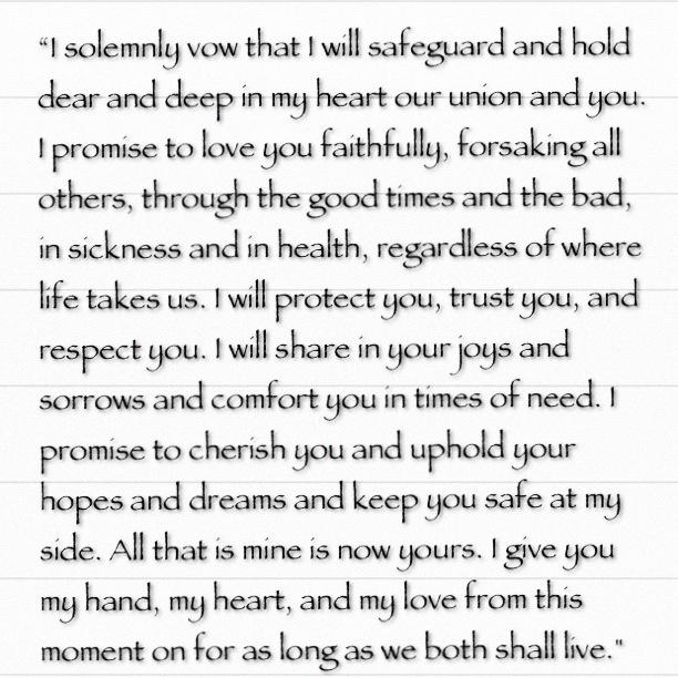 Wedding Vow Christian Grey To Anastasia Steele Fiftyshades Christiangrey