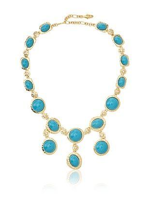 60% OFF Kenneth Jay Lane Satin Gold Aqua Drop Necklace