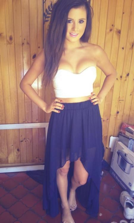 : Fashion, Style, High Low Skirts, Crop Tops, Highlow, Clothing, Cute Outfits, Dresses, Summer Outfits