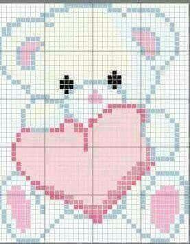Teddy bear with heart c2c