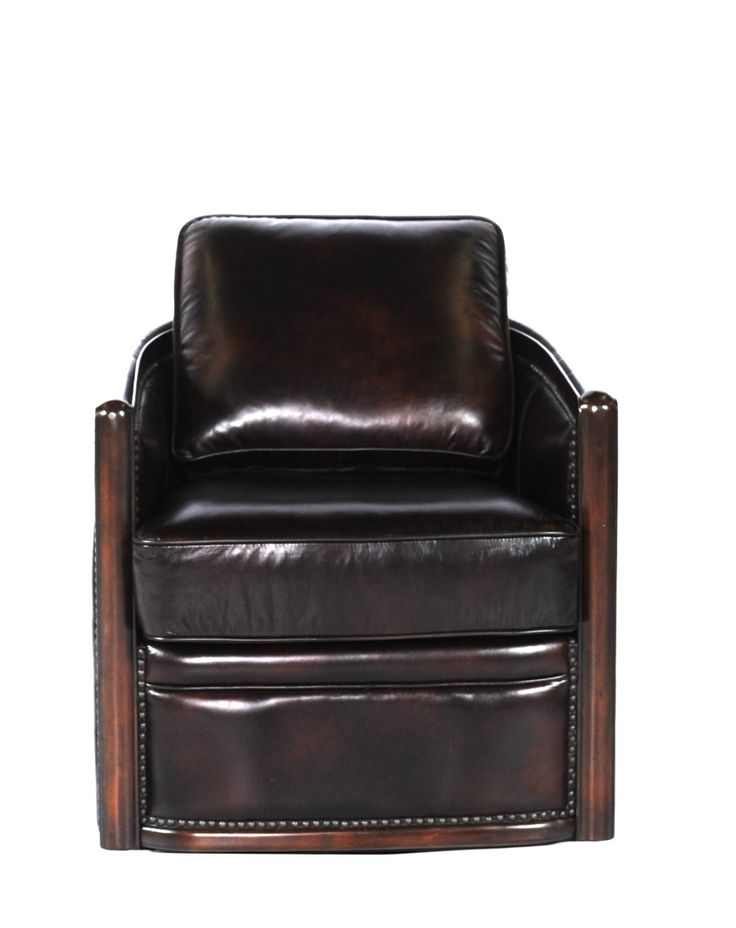 44 best images about leather chairs on pinterest for Leather swivel tub chair