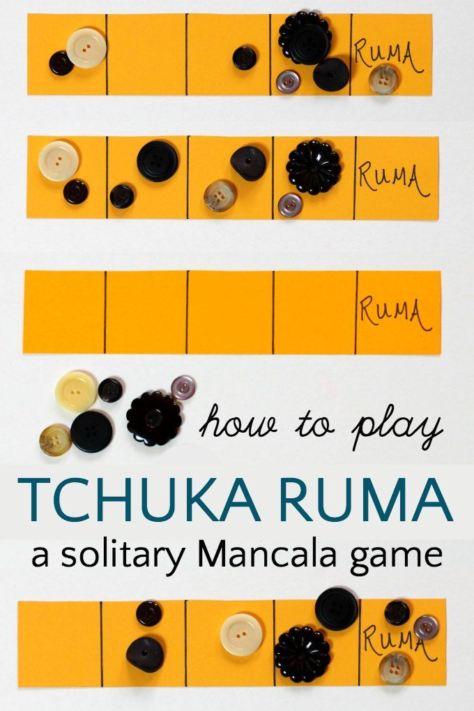 Tchuka ruma is a one person game for kids that works logic, strategy and early math learning skills.