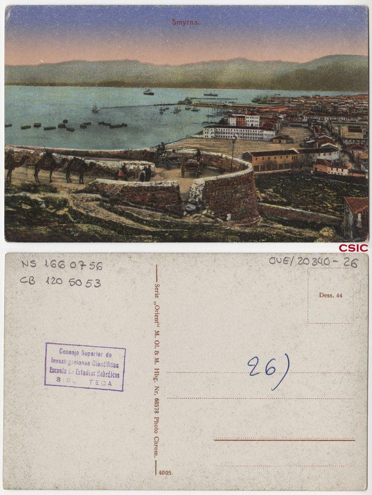 Smyrna. Editor: Hamburg : M. GL & M. Fecha: ca.1903. Serie/Tit. relacionados: Orient 68578; Vistas de Palestina.  http://bvirtual.bibliotecas.csic.es/csic:csicalephbib001660756
