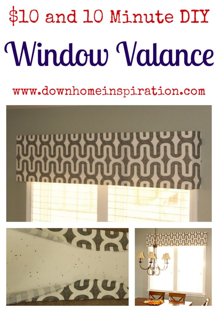 $10 diy window valance. I've been looking for something easy like this for years. Thank god!