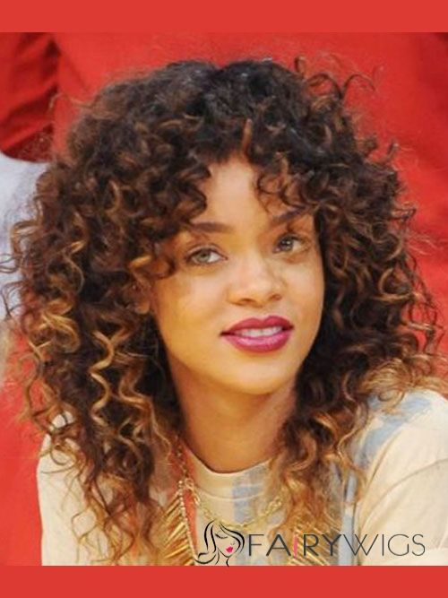 american curly hair styles personalized medium curly brown american lace wigs 2548