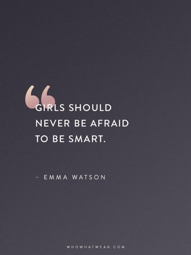 Life Quote: Emma Watson Quotes That Every Woman Should Read
