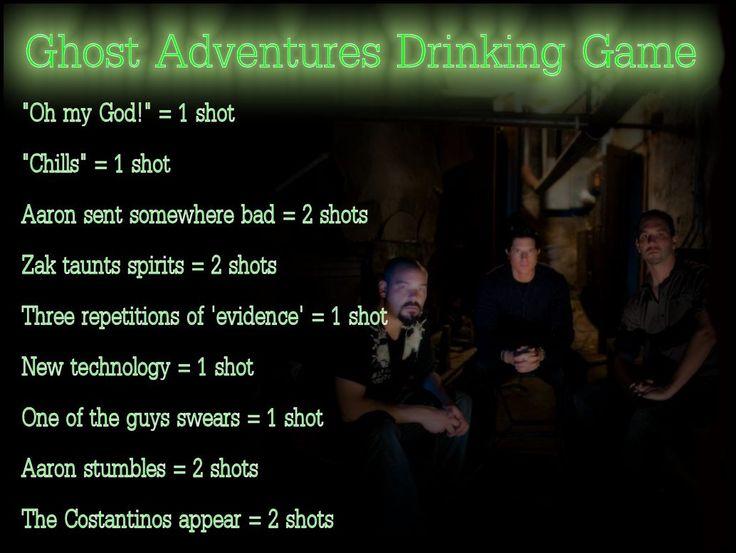 The Official Unofficial Ghost Adventures Drinking Game Be