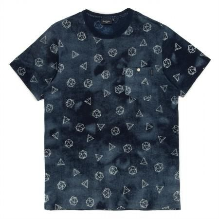 Paul Smith Men's T-Shirts - Indigo Geodesic Print Pocket T-Shirt