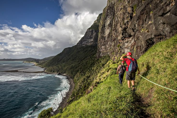 Journalist, Brent McKean, on the Lower Road | Lord Howe Island