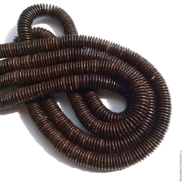 Купить _10 шт/ Кокос 12 мм шайба рондель темно-коричневый бусины д.украшений